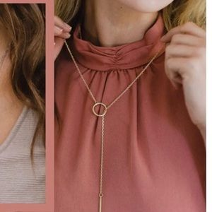 Nashelle Heather Drop Lariat Necklace - gold